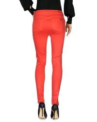 7 For All Mankind Red Casual Trouser