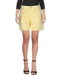 Department 5 - Yellow Bermuda Shorts - Lyst