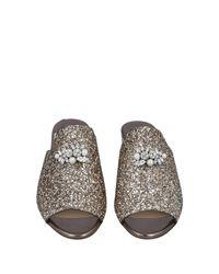 Sandales Jimmy Choo en coloris Metallic