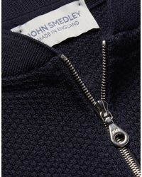 John Smedley Strickjacke in Blue für Herren