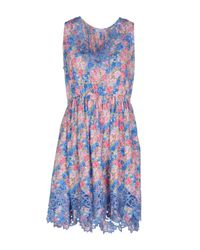P.A.R.O.S.H. Blue Knee-length Dress