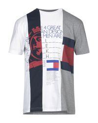 T-shirt di Tommy Hilfiger in White da Uomo