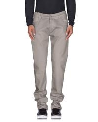 Notify - Gray Denim Trousers for Men - Lyst