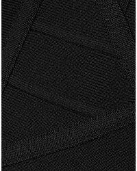 Gonna ginocchio di Hervé Léger in Black
