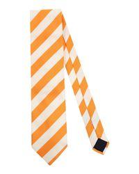 Les Copains Orange Tie for men