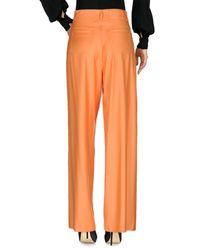 MM6 by Maison Martin Margiela - Orange Casual Pants - Lyst