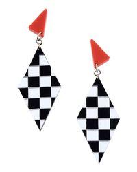 MSGM Black Earrings
