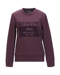 Felpa di Calvin Klein in Purple