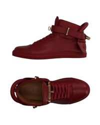Buscemi Red High-tops & Sneakers
