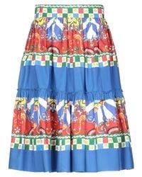 Gonna ginocchio di Dolce & Gabbana in Blue