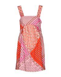 P.A.R.O.S.H. Multicolor Kurzes Kleid