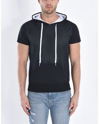 Pierre Darre' Black Sweatshirt for men