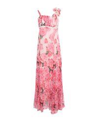 Robe longue Maria Grazia Severi en coloris Pink