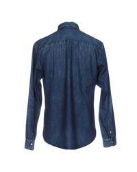 Golden Goose Deluxe Brand Blue Denim Shirt for men