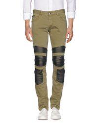 Philipp Plein Green Denim Pants for men