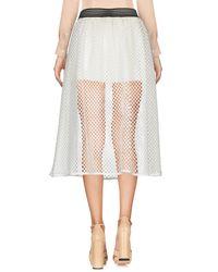 Shiki White 3/4 Length Skirt