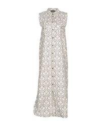 Twin Set White Long Dress