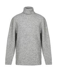 Cuello alto Alpha Studio de hombre de color Gray