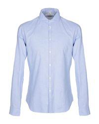 Camicia di Michael Coal in Blue da Uomo