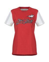 T-shirt Off-White c/o Virgil Abloh en coloris Red