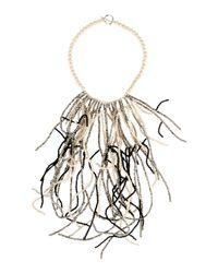 Brunello Cucinelli - White Necklace - Lyst