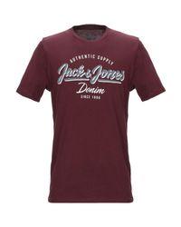 T-shirt Jack & Jones pour homme en coloris Red