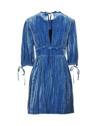 Robe courte AlexaChung en coloris Blue