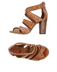 Sandales à talons Pantanetti en coloris Brown