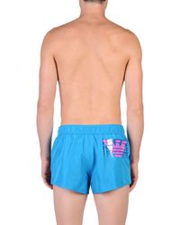 EA7 Blue Swim Trunks for men