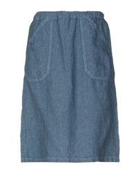Massimo Alba Blue Knee Length Skirt