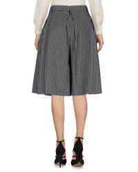 Suoli Black Knee Length Skirt