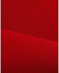 Badgley Mischka Red Langes Kleid