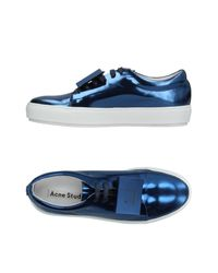 Acne Blue Low-tops & Sneakers