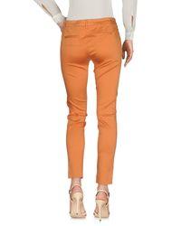 Peuterey Orange Casual Trouser
