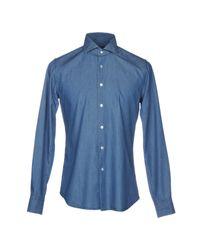 Xacus Blue Denim Shirt for men