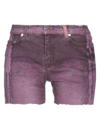 Roberto Cavalli Purple Jeansshorts