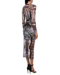 Guess Gray 3/4 Length Dress