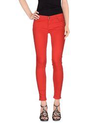 HTC Red Denim Trousers