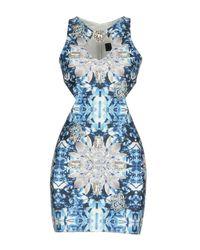 Philipp Plein Blue Short Dress