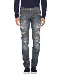 Philipp Plein Blue Denim Pants for men