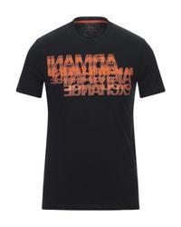 T-shirt di Armani Exchange in Black da Uomo