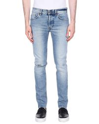 Aglini Blue Denim Trousers for men