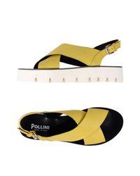 Sandales Pollini en coloris Yellow