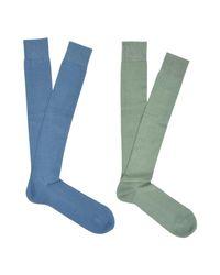 Falke Blue Short Socks for men