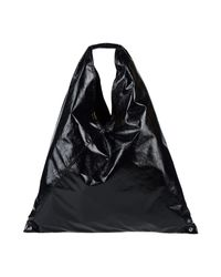 Borsa a mano di MM6 by Maison Martin Margiela in Black