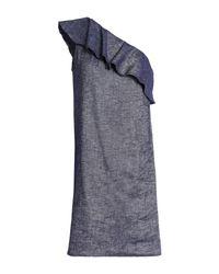 Theory Blue Kurzes Kleid