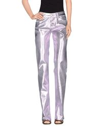 Blumarine Purple Denim Pants