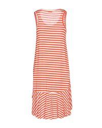 Berna Red Knee-length Dress