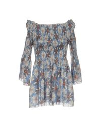 Care Of You - Blue Blouse - Lyst