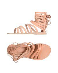 Ancient Greek Sandals Pink Sandals